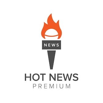Hot news logo icon vector template