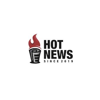 Hot news logotype