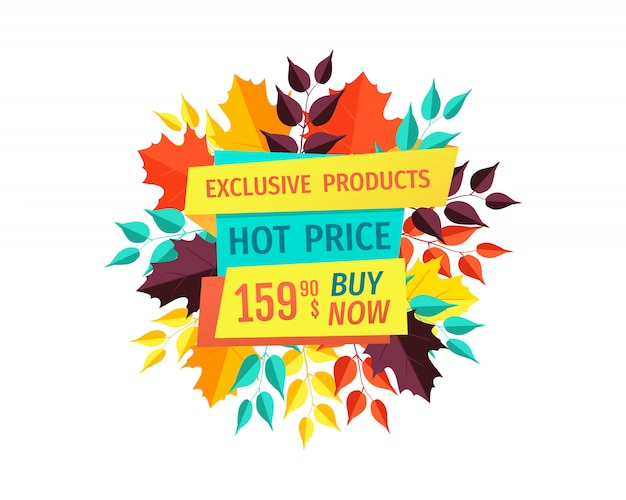 Hot price on exclusive products autumn sale banner