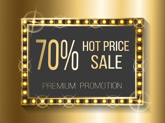 Hot price sale 70 percent off cost discount banner
