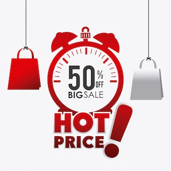 Hot price shopping design.
