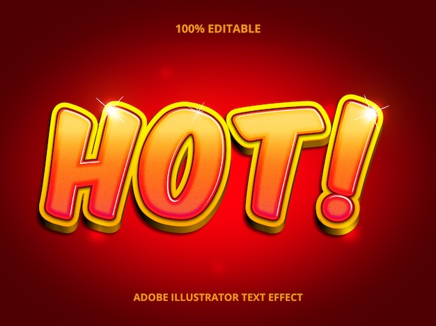 Hot red text effect
