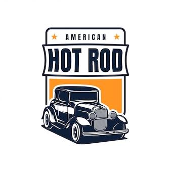 Значок hot rod classic car