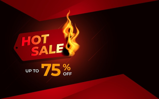 Hot sale background template with burning label