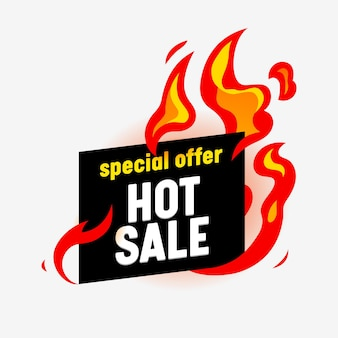 Hot sale banner for digital social media marketing advertising. special offer, weekend sale and shopping discount