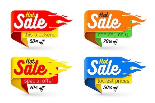 Hot sale banner offer deal set