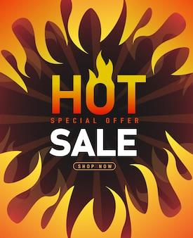 Hot sale banner template , super sale special offer.