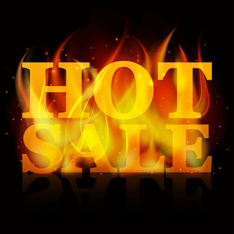 Hot sale billboard banner with glowing text in flames