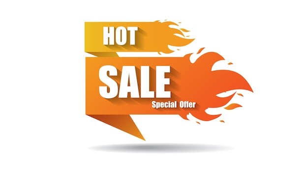 Hot sale fire special price offer deal labels banner templates