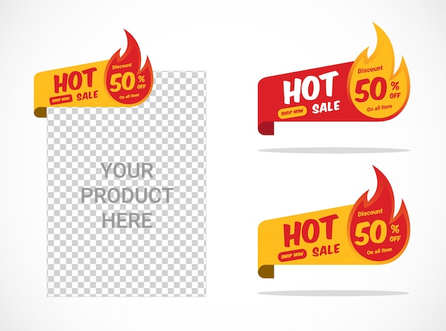 Hot sale label template with flaming sticker