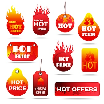 Hot sale labels set