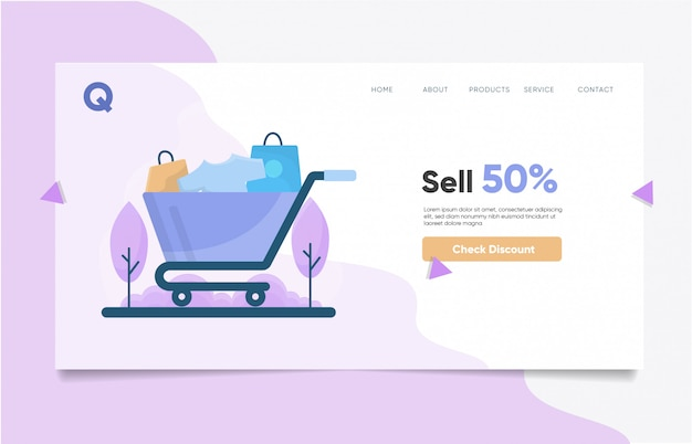 Hot sale landing page template