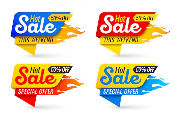 Hot sale price offer deal labels templates stickers