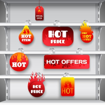 Hot sale rack wobblers print