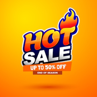 Hot sale special offer banner. bright creative design