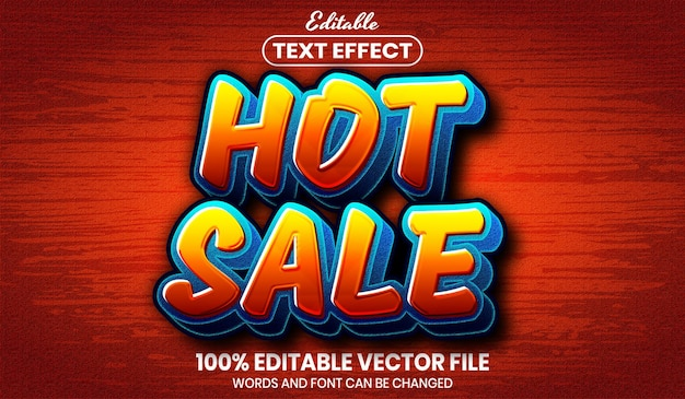 Hot sale text, font style editable text effect