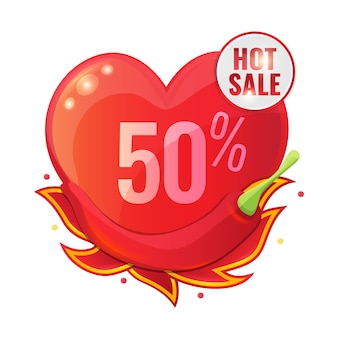 Hot sale with red pepper and flame