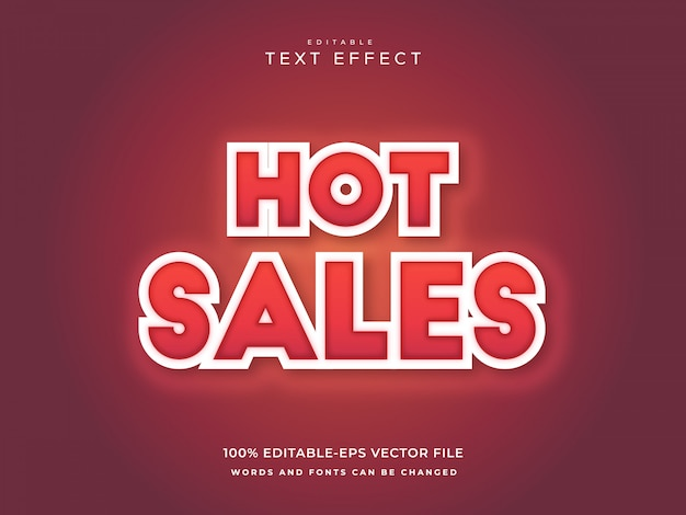 Hot sales text effect