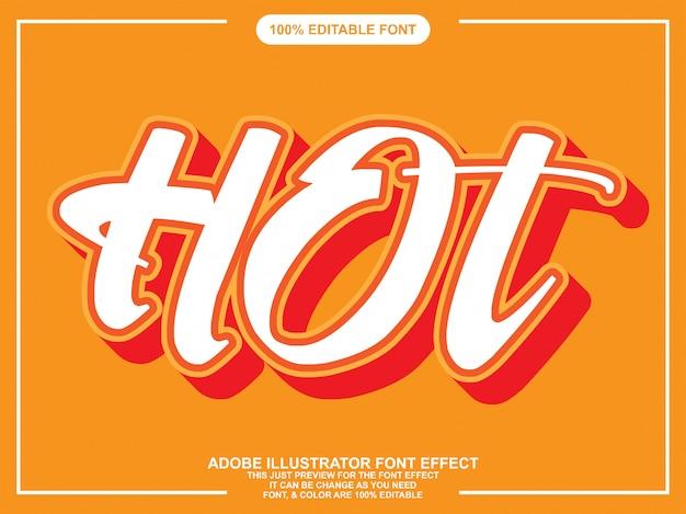 Hot script editable text font effect