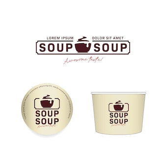 Hot soup bowls and logo