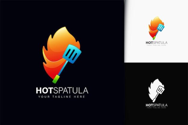 Дизайн логотипа горячего шпателя с градиентом