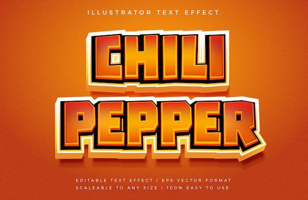 Эффект шрифта в стиле hot spicy 3d text