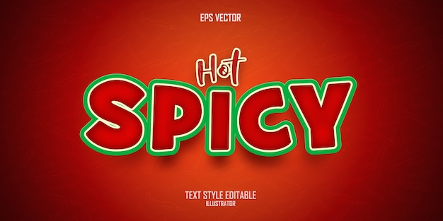 Hot spicy text style effect