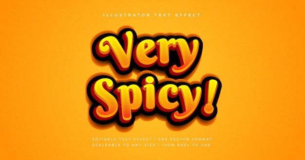 Эффект шрифта в стиле hot spicy text style
