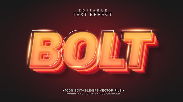 Hot style bolt text effect