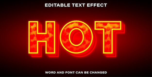Hot style text effect