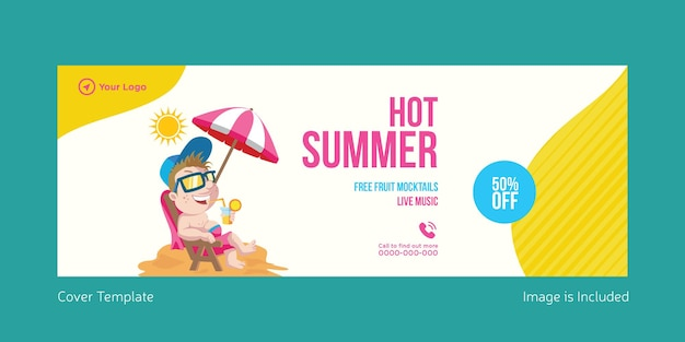 Hot summer cover page template