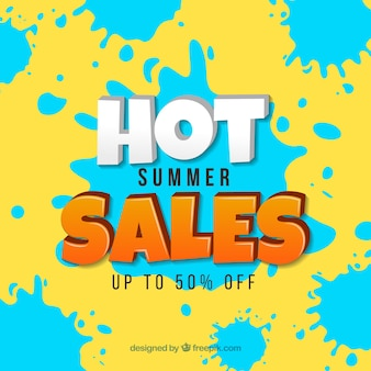 Hot summer sale background