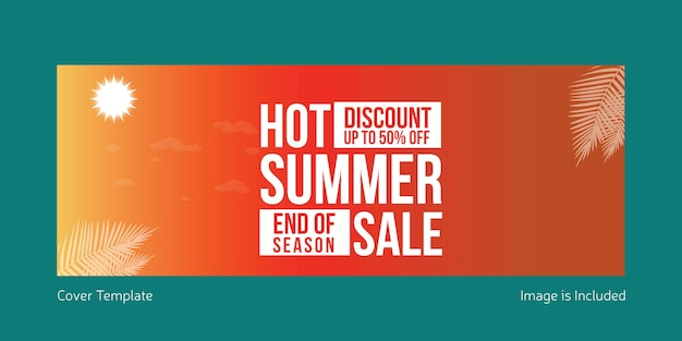 Hot summer sale cover page template