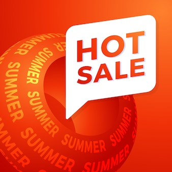 Hot summer sale special offer banner for business, promotion and advertising.   illustration.