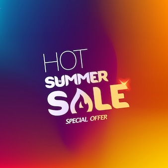Hot summer sale special offer colorful banner