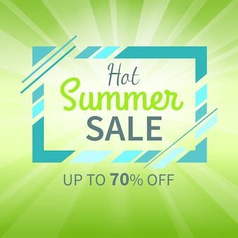 Hot summer sale up to 70 percent promotion banner