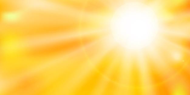 뜨거운 태양. 열파. 지구 온난화와 기후 변화 개념. 벡터 일러스트 레이 션