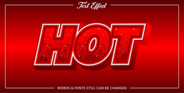 Hot text effect