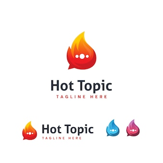 Hot topic logo template