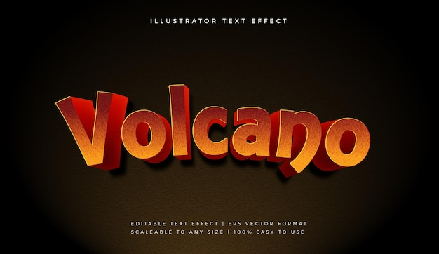 Hot volcano text style font effect