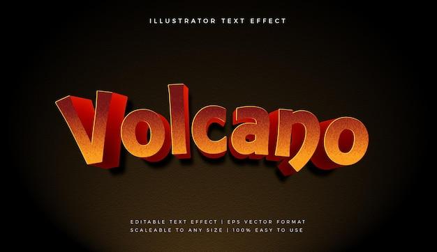 뜨거운 화산 텍스트 스타일 글꼴 효과