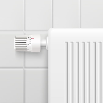 Hot water heating radiator