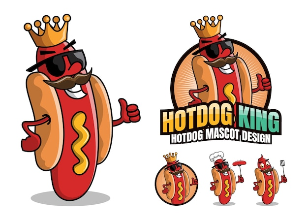 Hotdog character mascot illustration