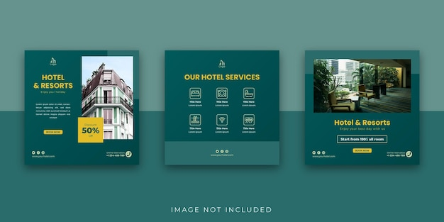 ホテルアンドリゾートソーシャルメディアinstagram投稿テンプレート