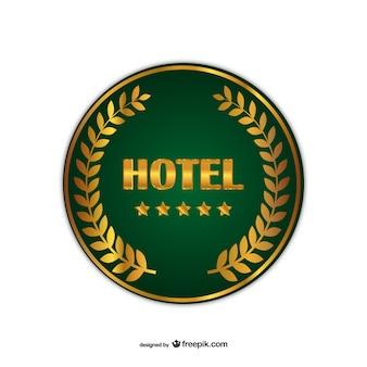 호텔 배지 벡터