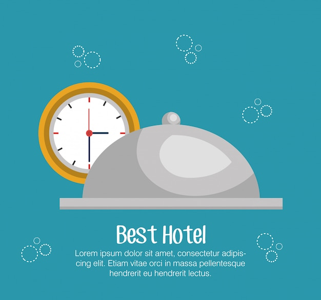 Hotel bell isolated icon
