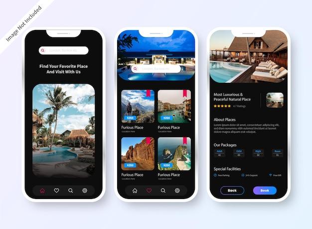 Hotel booking app ui design screen
