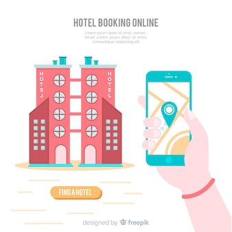 Hotel booking background