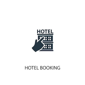 Hotel booking icon. simple element illustration. hotel booking concept symbol design. can be used for web and mobile.