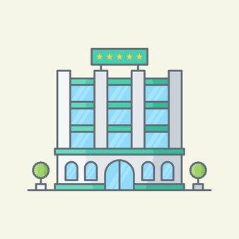 Здание гостиницы векторные иллюстрации